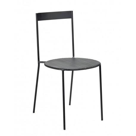 chaise design metal acier noir moderne antonino sciortino serax
