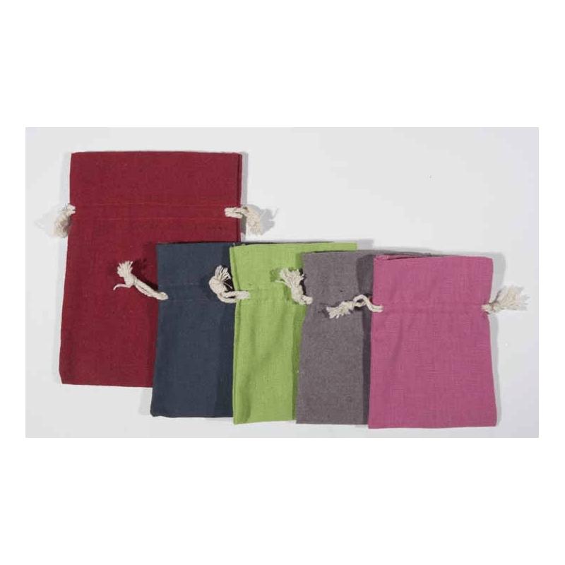 Sachet Tissu En Coton Aspect Jute Comptoir De LEmballage