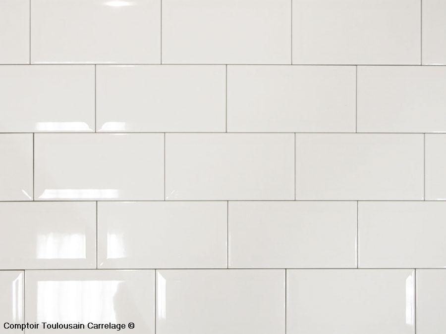 carrelage mural 10x20 metro de paris blanc mainzu
