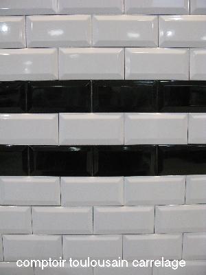 carrelage metro 75x15 haut de gamme rouge noir blanc1erchoixEpaisseur  9mm 75x15