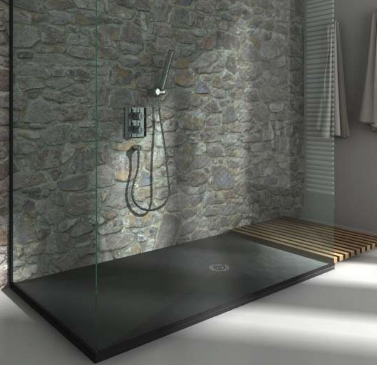 receveur de douche extra plat finition pizarra de resigres