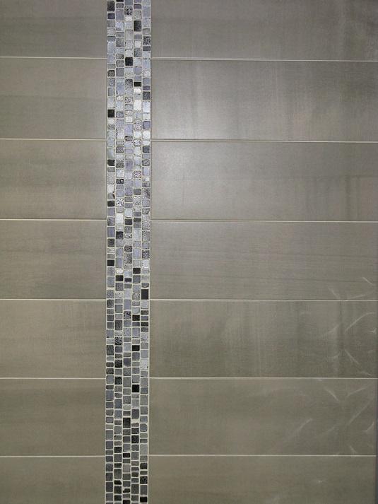 Carrelage mural 19x57 Pass Gris Saloni Saloni carrelage salle de bain faence moderne