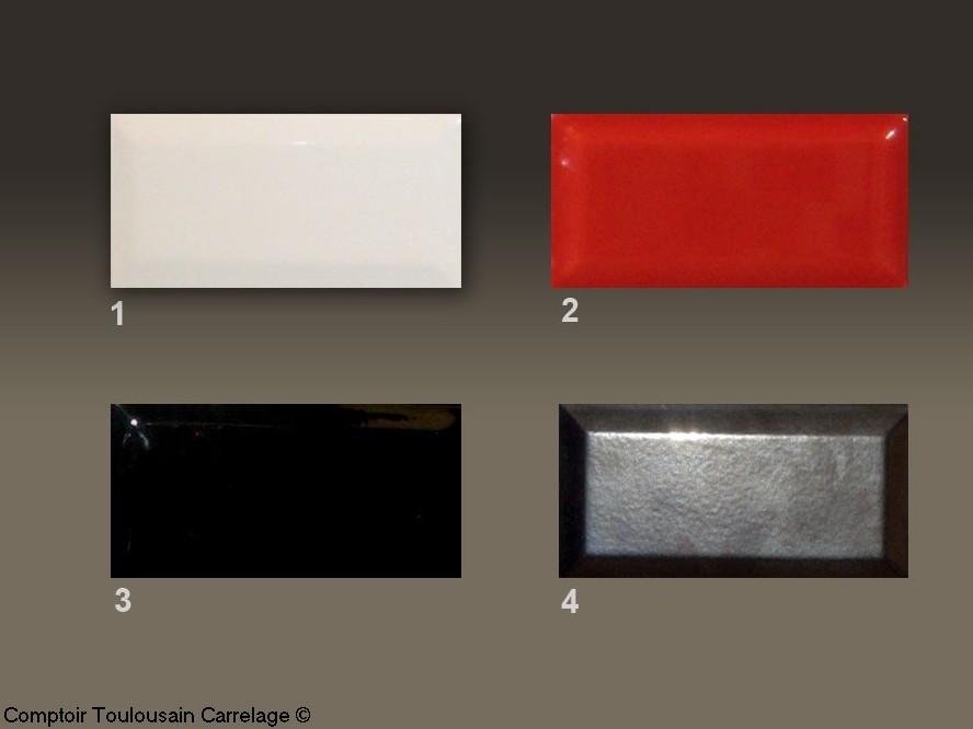 carrelage metro 7 5x15 haut de gamme rouge noir blanc 1erchoix epai