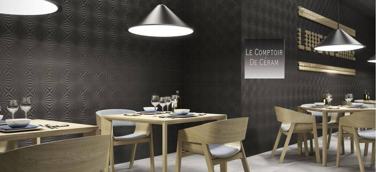 carrelage mural noir blanc ou taupe