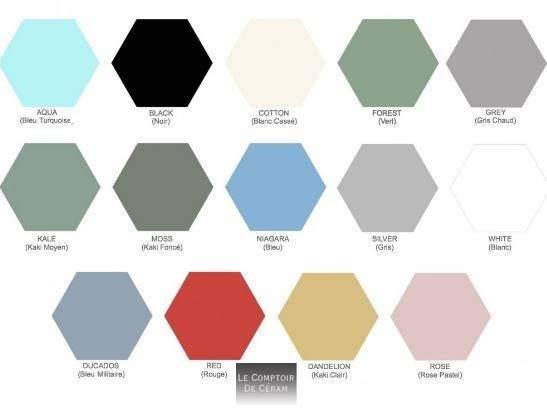 carrelage hexagonal 22 x 25 cm style