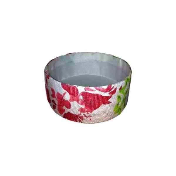 Corbeille de rangement en carton décor grand fleurs