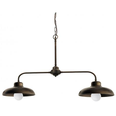 suspension retro charme 2 lampes moretti luce