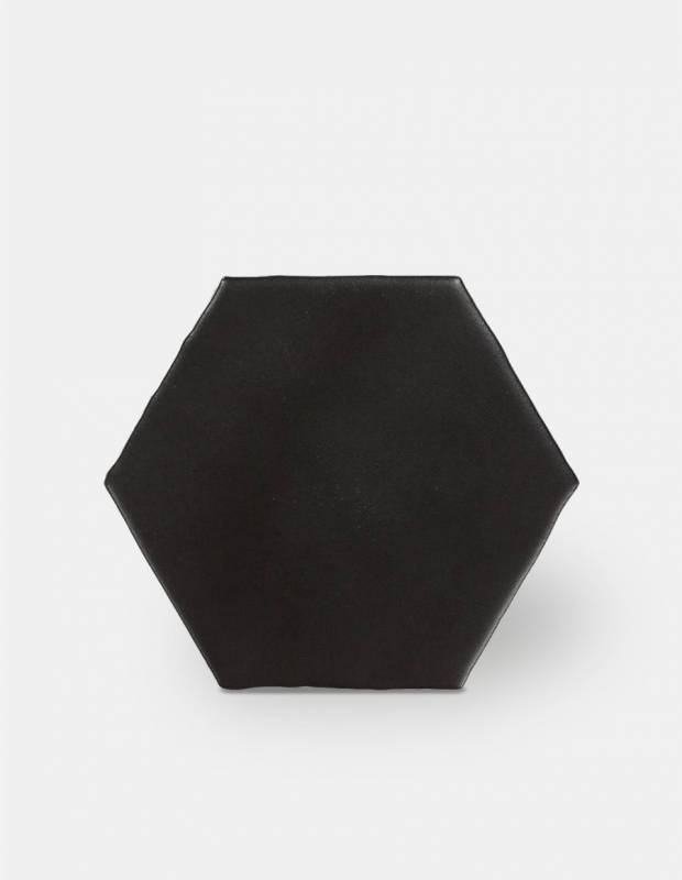 carrelage hexagonal mat noir 15 x 15 cm he0811007