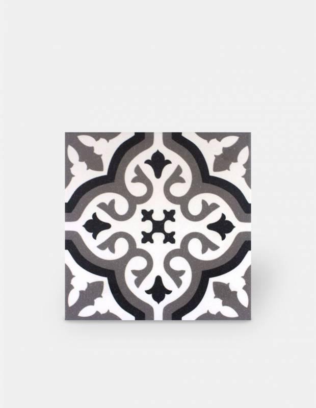 carrelage imitation carreau ciment sol et mur blanc 20 x 20 cm fl0115002