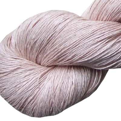 Fil de lin rose fané pour le tricot et le crochet