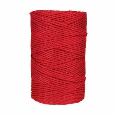 Macramé - corde - ficelle - coton- cordon - fil 2,5mm - Rouge cerise