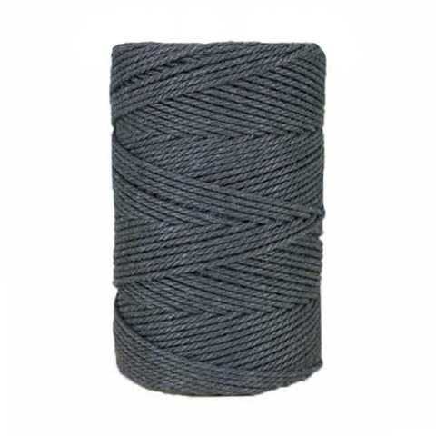 Macramé - corde - ficelle - coton- gris ardoise - 2,5mm
