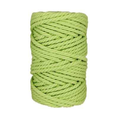 Macramé - corde - ficelle - coton - vert clair - 7mm