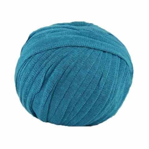 Trapilho Ribbon XL Bleu Paon - Fil Ribbon Hoooked