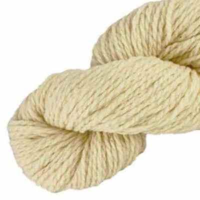 Laine naturelle Française - Blanc d'ivoire - Echeveau de pure laine de pays à tricoter,