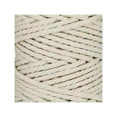 Macramé - corde - ficelle - coton -blanc cassé - cordon - fil 5mm - vendu au mètre