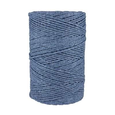 Macramé - corde - ficelle - coton- cordon - fil 2,5mm - bleu jean
