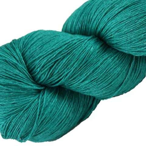 Écheveau fil pur lin, tricot crochet, 100% lin naturel, bleu sarcelle