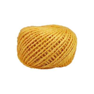 Corde - ficelle de jute- fil de 2mm - jaune - macramé - crochet - bijouterie -décoration -bricolage - art floral