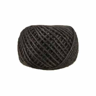 Corde - ficelle de jute- fil de 2mm - noir - macramé - crochet - bijouterie -décoration -bricolage - art floral