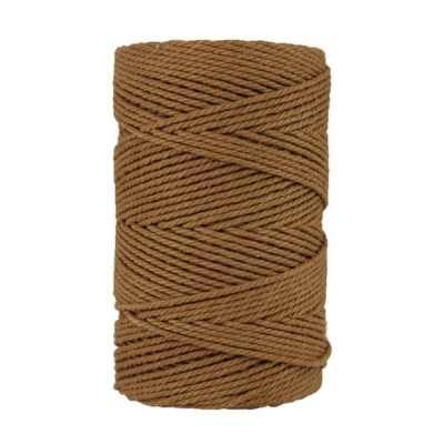 Macramé - corde - ficelle - coton- cordon - fil 2,5mm - marron clair havane