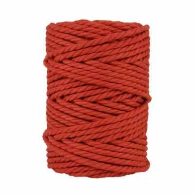 Macramé - corde - ficelle - coton- cordon - fil 7mm - rouge paprika