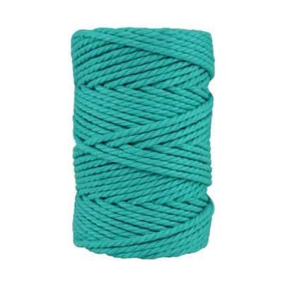Macramé - corde - ficelle - coton- cordon - fil 5mm - bleu des mers du sud