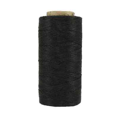 Fil de lin ciré - Noir - Bobine 100% lin - Micro-macramé, bijoux, couture, reliure, maroquinerie