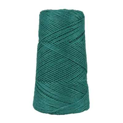 Fil de lin rustique -2 mm - Bobine - Ficelle - Vert paon - Macramé, tricot, crochet