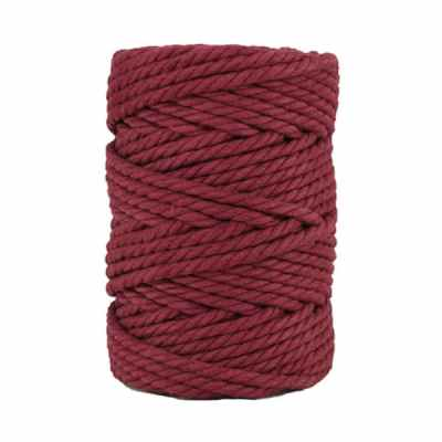 Macramé - corde - ficelle - coton- cordon - fil 7mm - Amarante
