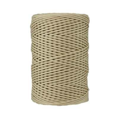 Cordon coton tressé 2 mm. Bobine de corde de 500 gr pour macramé, couture, customisation, décoration