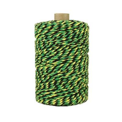 Ficelle Baker Twine - 2mm - noir vert jaune