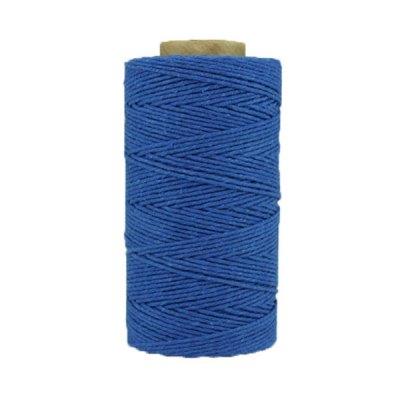 Coton ciré - Bleu azur