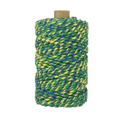 Ficelle Baker Twine - 3mm - Bobine - Bleu/jaune/vert