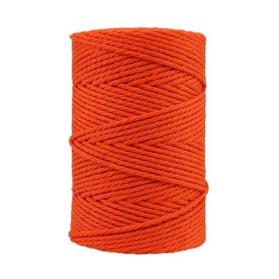 Corde macramé artisanale - Coton - Cordon - Ficelle - Fil 3 mm - Orange