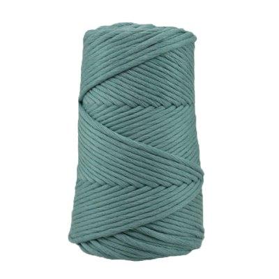 Cordon - corde - coton peigné suprême - fil de 4 mm - Bleu sarcelle - macramé - crochet - tricot - tissage