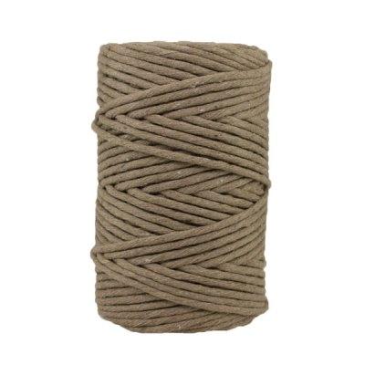 Cordon - corde - coton peigné- fil de 4mm - marron glacé - macramé - crochet - tricot - tissage