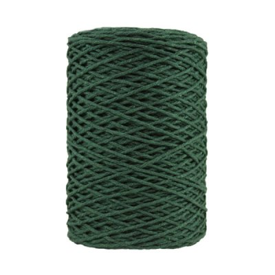 Coton bitord - Barbante - Fil de coton - Vert sapin