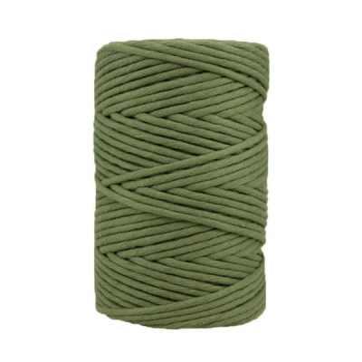 Cordon coton peigné - Vert asperge - Macramé - Crochet