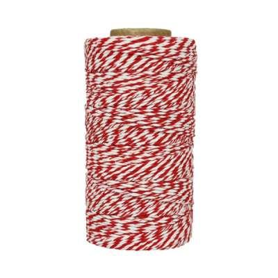 Fil de coton ciré - Rouge et blanc