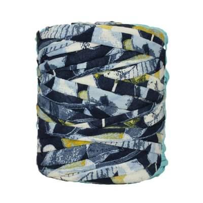 Trapilho-bobine-pelote-imprimé-blanc-jaune-bleu
