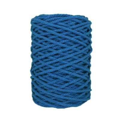 Cordon macramé - Bleu saphir
