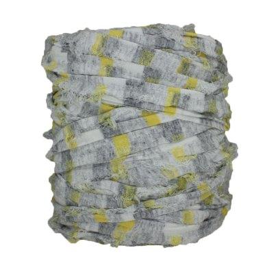 Trapilho-bobine-pelote-imprimé-gris-jaune-blanc
