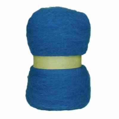 Laine cardée en nappe - Bleu saphir
