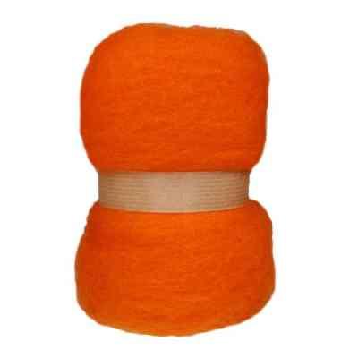 Laine cardée en nappe - Mandarine
