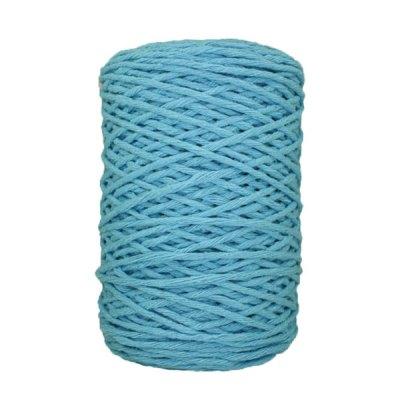 Coton bitord (barbante) - 3 mm - Bleu maya