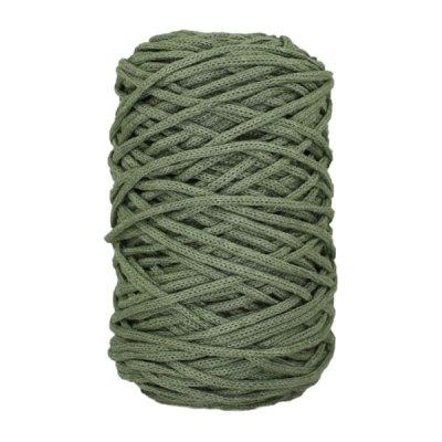 Cordon coton tressé - 3 mm - Vert militaire