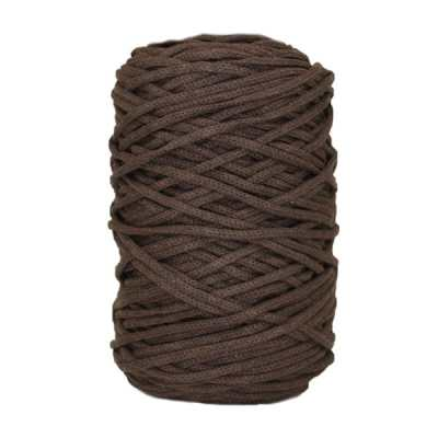 Cordon coton tressé - 3 mm - Chocolat