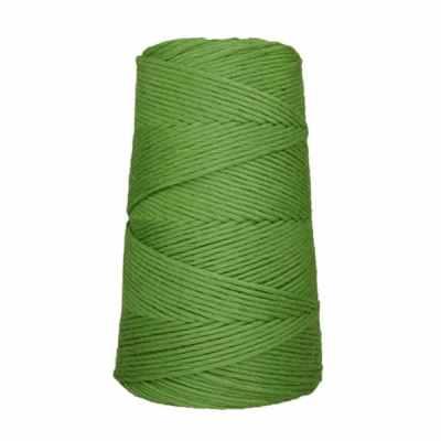 Cordon - corde - coton peigné suprême - fil de 2mm - vert pomme - macramé - crochet - tricot - tissage