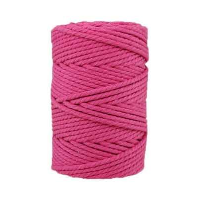 Corde macramé - 4 mm - Rose Hollywood